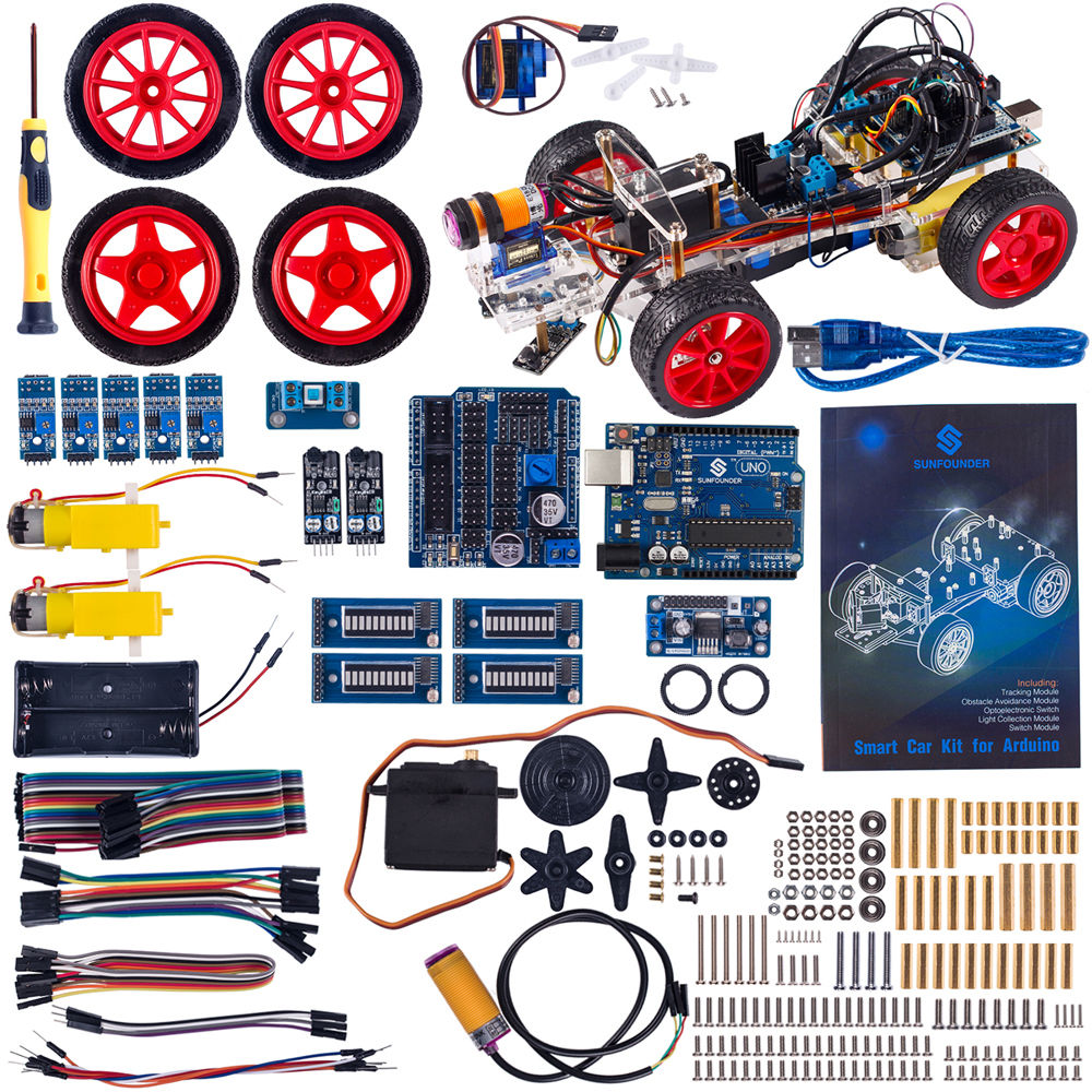 Sunfounder smart car kit for arduino with uno r obstacle